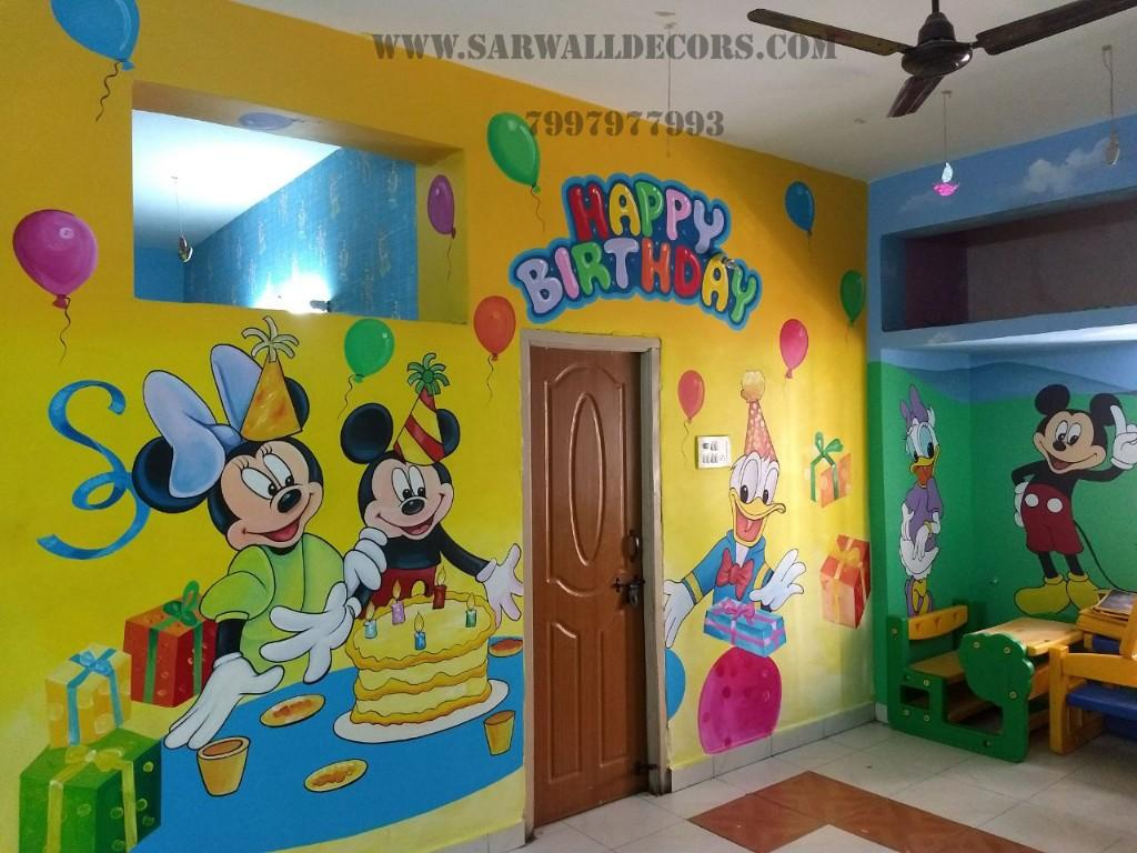 Modern classroom wall painting in Hyderabad, kuktapally,Hyderabad