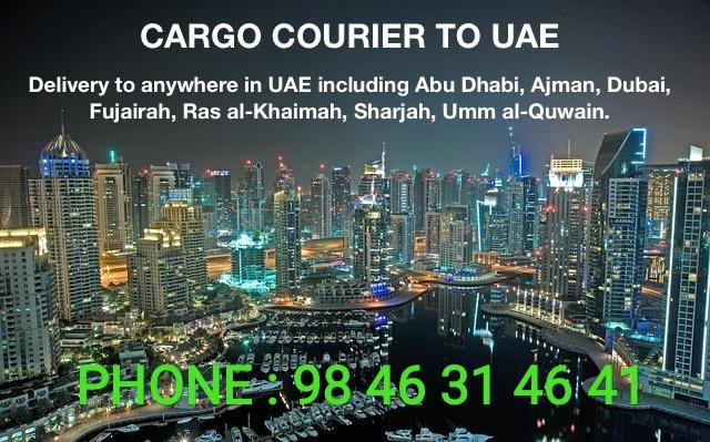 Cochin Airport to Sharjah courier and cargo services