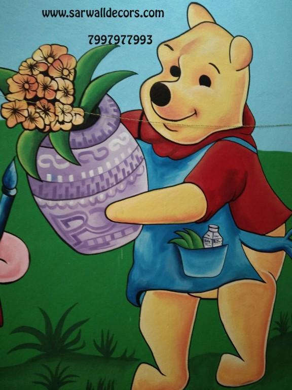 Animals Themes Cartoon Wall Painting In Hyderabad Kuktapally Hyderabad