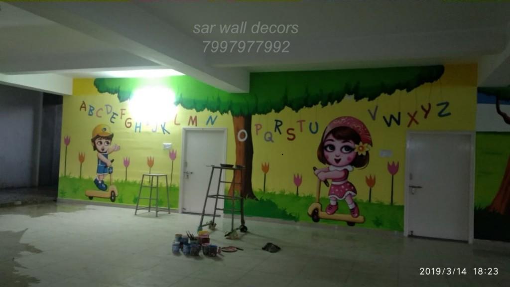 Play School Wall Painting Nursery Class Room Wall Painting Hyderabad