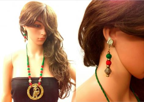 handmade dokra exclusive necklace sets is in vogue as an