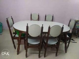6 Seater Original Teak Wood Dining Table Slightly Used For Chennai
